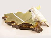 Блюдо для конфет керамическое Какаду