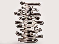 Ваза декоративная керамическая серебряная Ветви