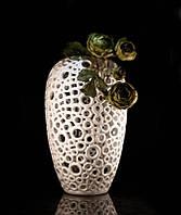 Ваза для декора керамическая белая Лаурино