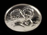 Картина серебряная Амур и Психея Поцелуй любви