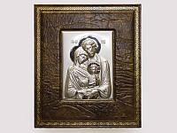 Икона серебряная Святое семейство Семейная