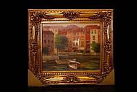 Картина золой багет горизонтальная Венеция