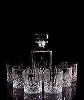 Набор для спиртного хрустальный под виски 6 бокалов и графин