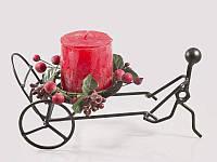Подсвечник кованый + ароматизированная свеча в подарок