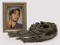 Рамка для фото серебряная + стильный мужской шарф в подарок