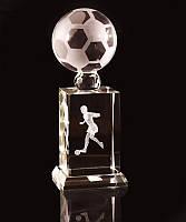 Статуэтка хрустальная Футболист спортивная награда футбольный кубок