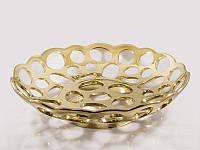 Фруктовница керамическая золотистая Экзотика