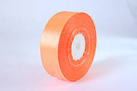 Атласная лента 2,5 см, 36 ярд (около 33 м), оранжево-персикового цвета оптом