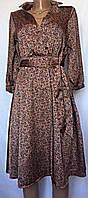 Платье шелковое цветное, отрезное, клеш размер XS/S, фото 1