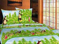 Дитяча постільна білизна МАША та ВЕДМІДЬ (Детский постельный комплект МАША  и МЕДВЕДЬ) 6847a90da75f2