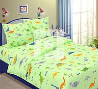 Комплект детского постельного белья Дино (динозаврики), ткань  бязь