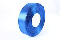 """Атласная лента 2,5 см, 36 ярд (около 33 м), синего цвета """"электрик""""  оптом"""