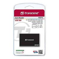 Кардридер Transcend USB 3.0 Black (TS-RDF8K)