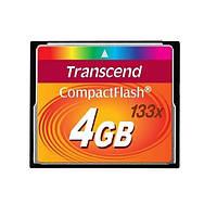 Flash карточка Compact Flash TRANSCEND 4 Гб (133X)