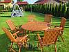 Комплект садових меблів. Стіл 140см (з отвором під зонт) + 6 крісел