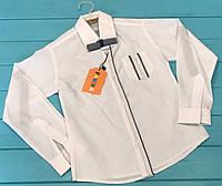 Детская белая школьная рубашка на мальчика с бабочкой Турция Размер 6- 9 лет