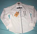 Детская белая школьная рубашка на мальчика с бабочкой Турция Размер 6- 9 лет, фото 2