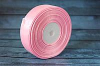 Атласная лента 2,5 см, 36 ярд (около 33 м), нежно-розового цвета оптом