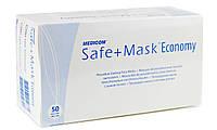 Защитная Маска медицинская 50 штук Safe+Mask Economy