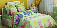 Комплект детского постельного белья СВИНКА ПЕППА, ткань бязь Турция