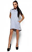 Женское платье Эллада, серое, р.42-48*