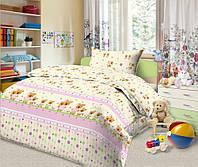 Комплект детского постельного белья Мишки и Зайчики, ткань бязь