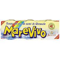 Тунець в олії MAREVIVO, 3*80г