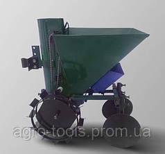 Картофелесажалка мотоблочная ДТЗ КСМ-1ЦУ с бункером для удобрений (цепная, квадратная, 34 л.)