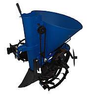 Картофелесажалка мотоблочная ДТЗ КСМ-1Л (на ленте, с транспортерными колесами, круглая, 20 л.)