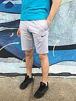 Мужские Шорты Nike серые вышивка