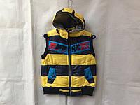Жилетка длямальчикаподростковая8-12лет,желтая с темно синим, фото 1