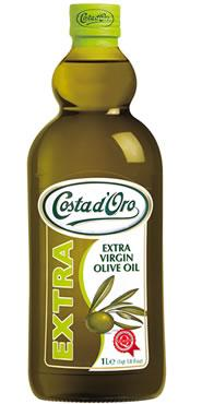 Оливковое масло  Costa d'Oro Extra Virgin , 1 л