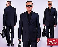 Деловой мужской костюм,черный,44, 46, 48, 50, 52, 54, 56, 58, 60, 62, 64