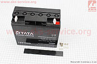 Аккумулятор 12V/18Аh  гелевый, черный 180/77/165 мм фирмы ТАТА
