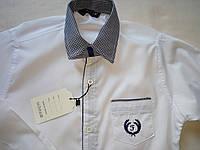 Детская белая школьная рубашка на мальчика с бабочкой Турция Размер 10- 13 лет