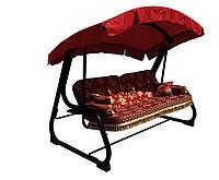 Диван-Качель садовая Spring-Swing Barokko Red-Gold