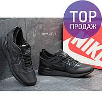 Мужские кроссовки NIKE, черные, для зала / кроссовки мужские НАЙК, стильные, 2017