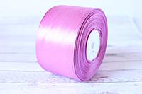 Атласная лента 5 см, 36 ярд (около 33 м), цвета сирень с розовизной  оптом