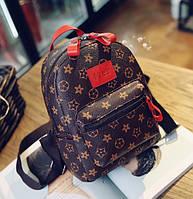 Маленький женский рюкзак LV Красный