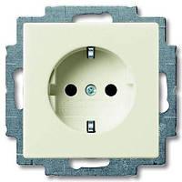 Розетка с з/к  ABB Basic 55 Белый шале