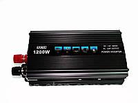Инвертор автомобильный 1200W, Преобразователь напряжения AC/DC 1200W
