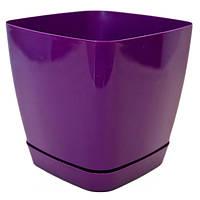 Горшок цветочный Декор-Престиж Тоскана-Квадро 17 3.7 л фиолетовый