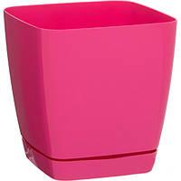 Горшок цветочный Декор-Престиж Тоскана Квадро-13 1.7 л розовый
