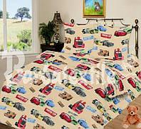 Комплект детского постельного белья ТАЧКИ МАКВИН, ткань бязь (Турция)