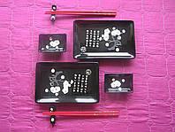 """Набор для суши на две персоны """"Сакура"""", черный"""