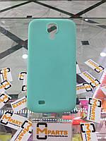 Чехол силикон ультратонкий для Samsung S4 i9500 берюзовый