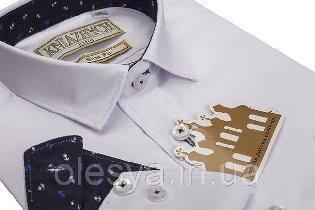Стильная рубашка для мальчика с длинным рукавом Размеры 7- 16 лет