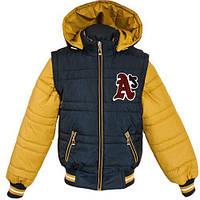 Демисезонные куртки-жилеты для мальчиков 128-152р