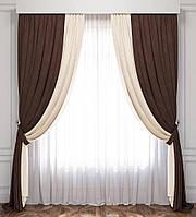Готовые шторы и тюль комплект в зал спальню(турецкие ткани)