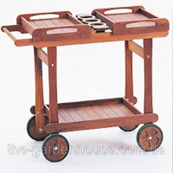 Сервировочный столик из дерева мербау Делюкс